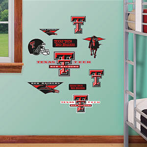 Texas Tech Red Raiders - Team Logo Assortment Fathead Wall Decal